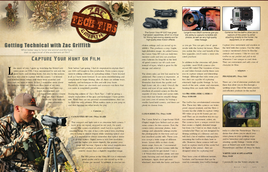 ZAC GRIFFITH MULEY CRAZY FILM YOUR HUNT ARTICLE